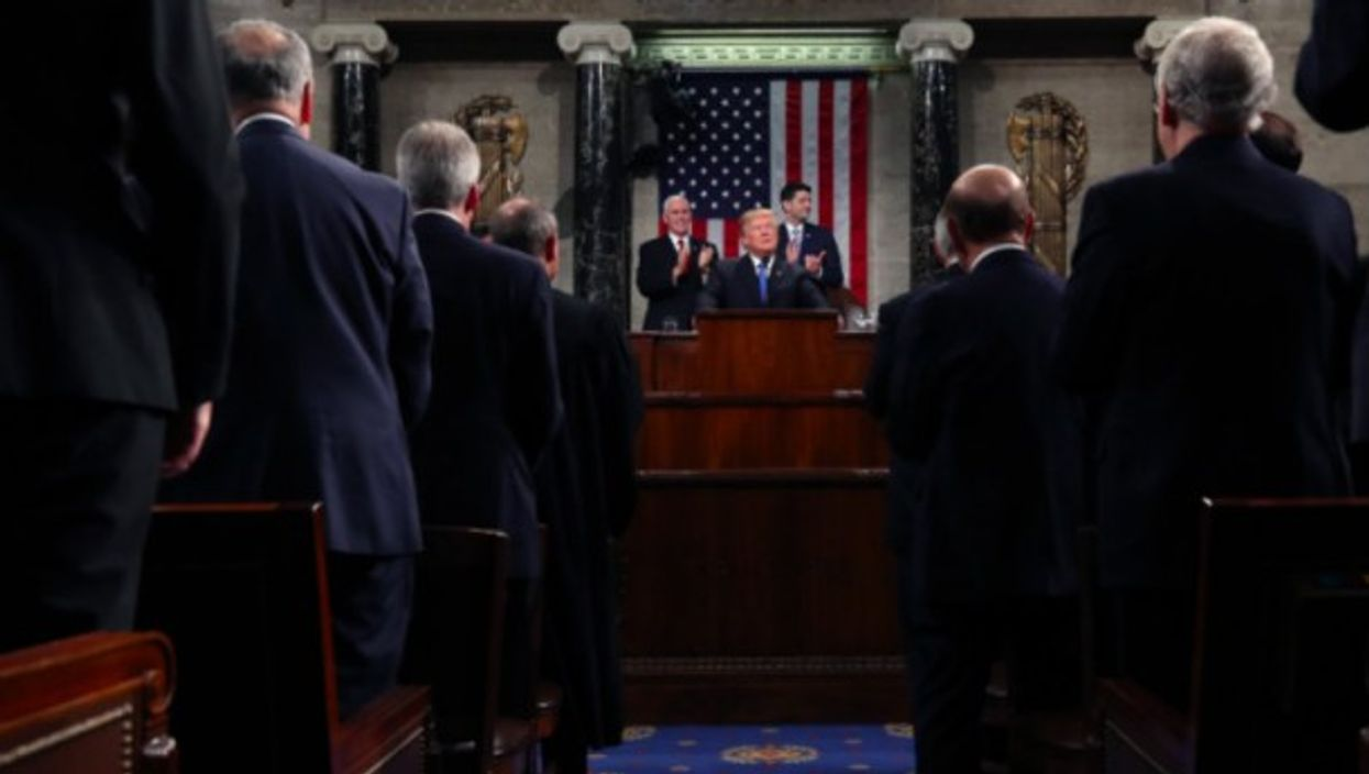 President Trump delivers delivers the State of the Union address in Jan. 30
