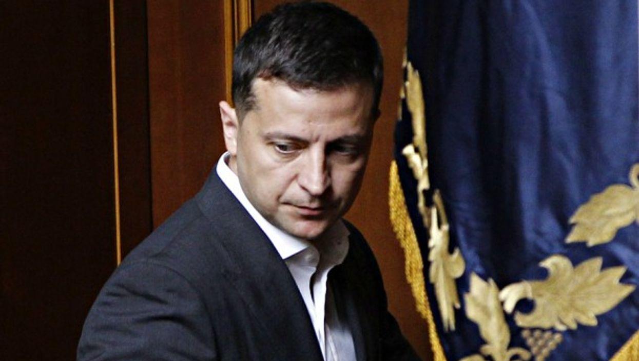 President Zelensky in Kiev on Aug. 29