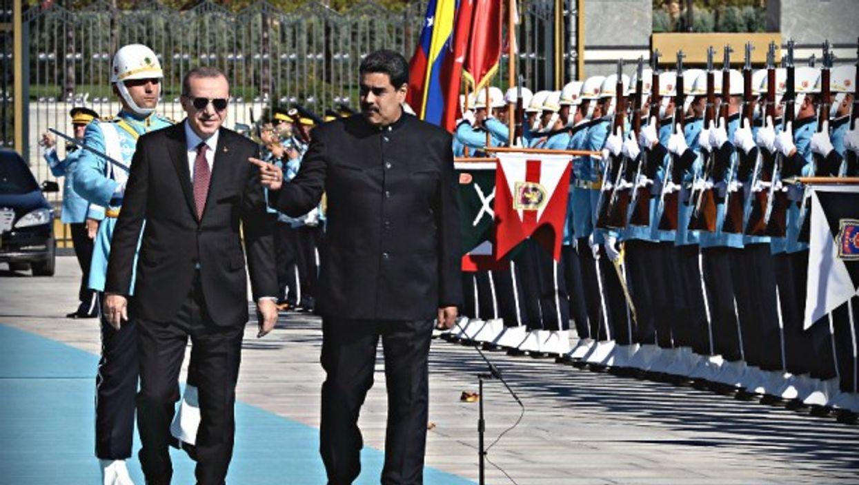 Presidents Erdogan and Maduro in Ankara in October