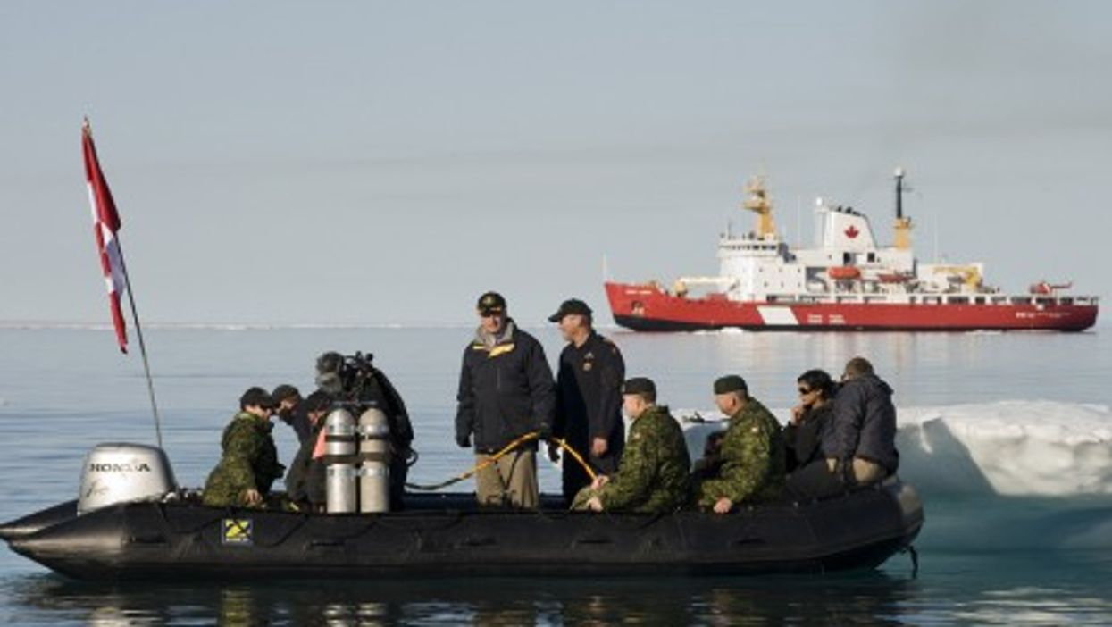 Prime Minister Stephen Harper on hand for Arctic military operations in 2010