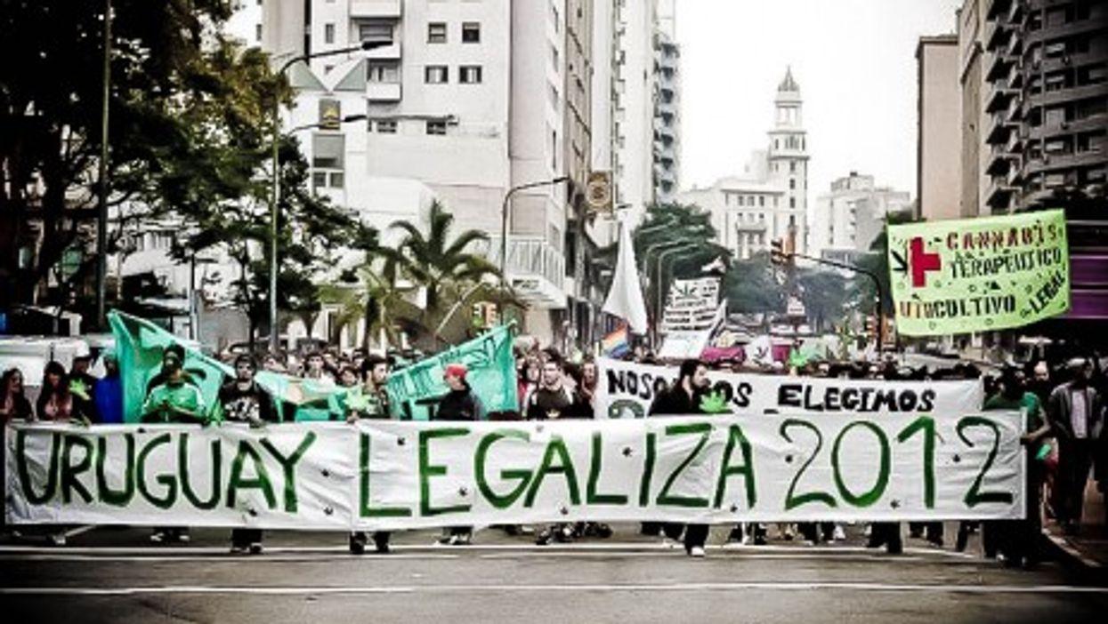Pro-legalization rally in Uruguay