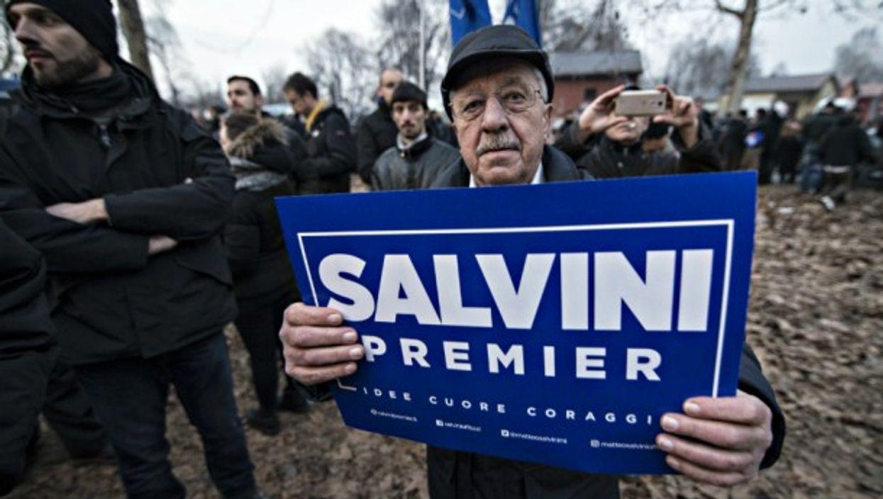 Pro-Salvini rally in Turin on Feb. 1