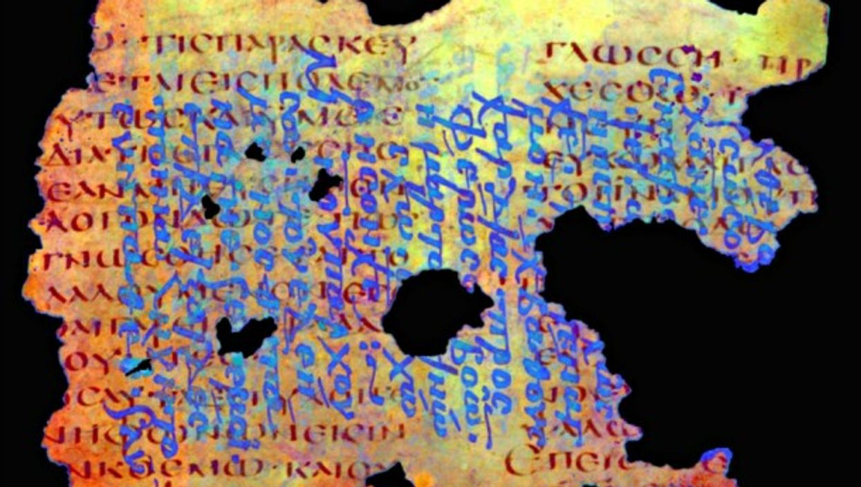 Processing spectral data on a palimpsest