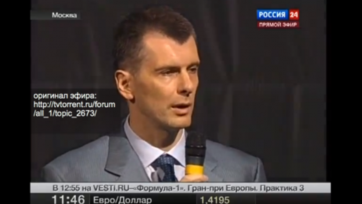 Prokhorov getting air time on Channel 24 back in June