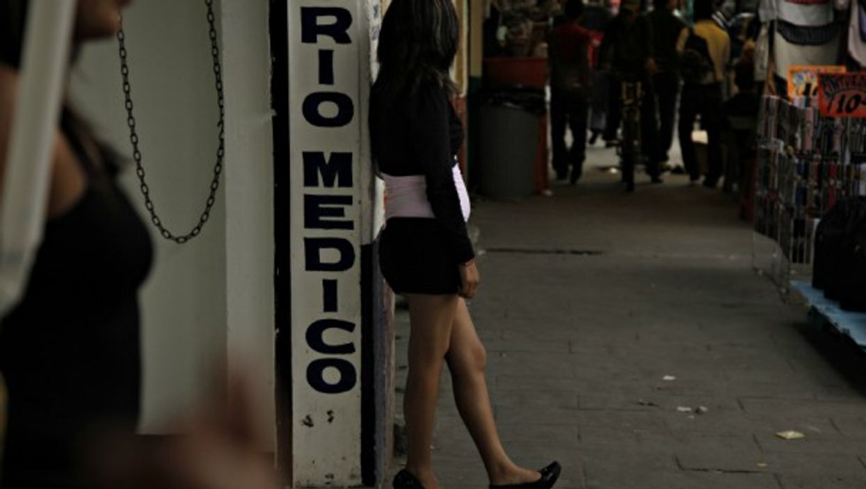 Prostitutes in the marketplace of La Merced, Mexico City, Mexico