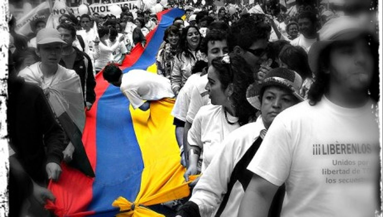 Protest against the FARC