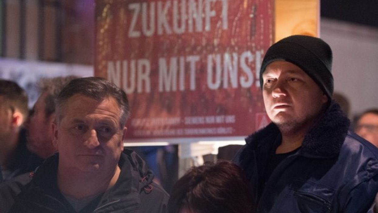 Protest at Germany's Leifeld Metal factory