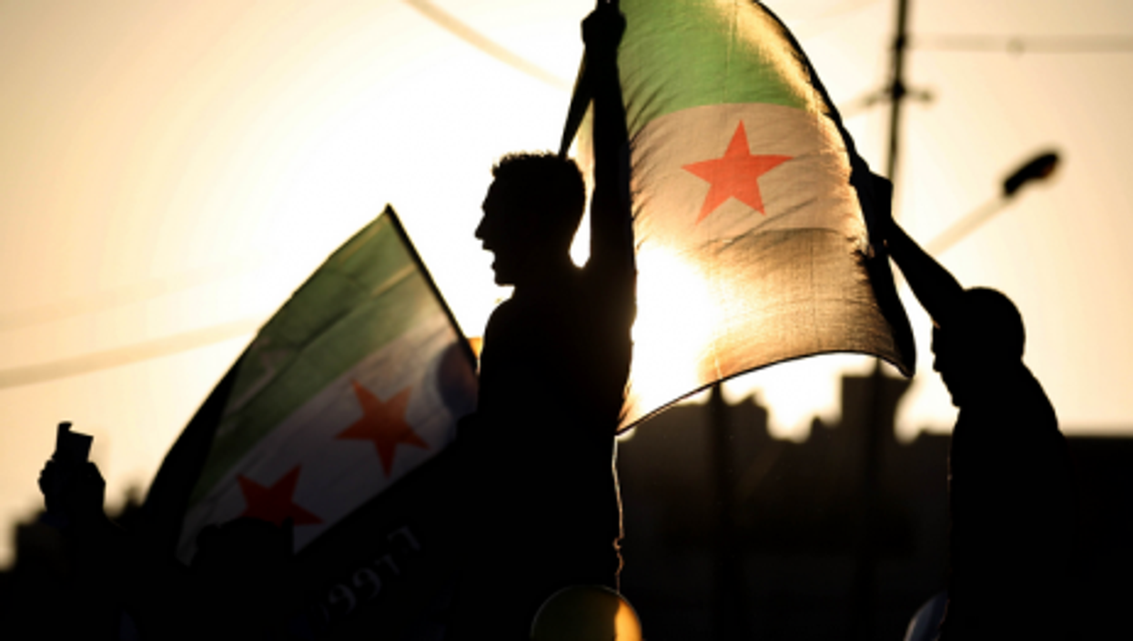 Protest in Amman against alleged chemical weapons attack in Syria