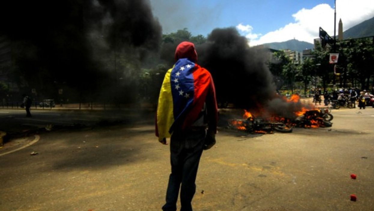 Protester in Caracas on July 30