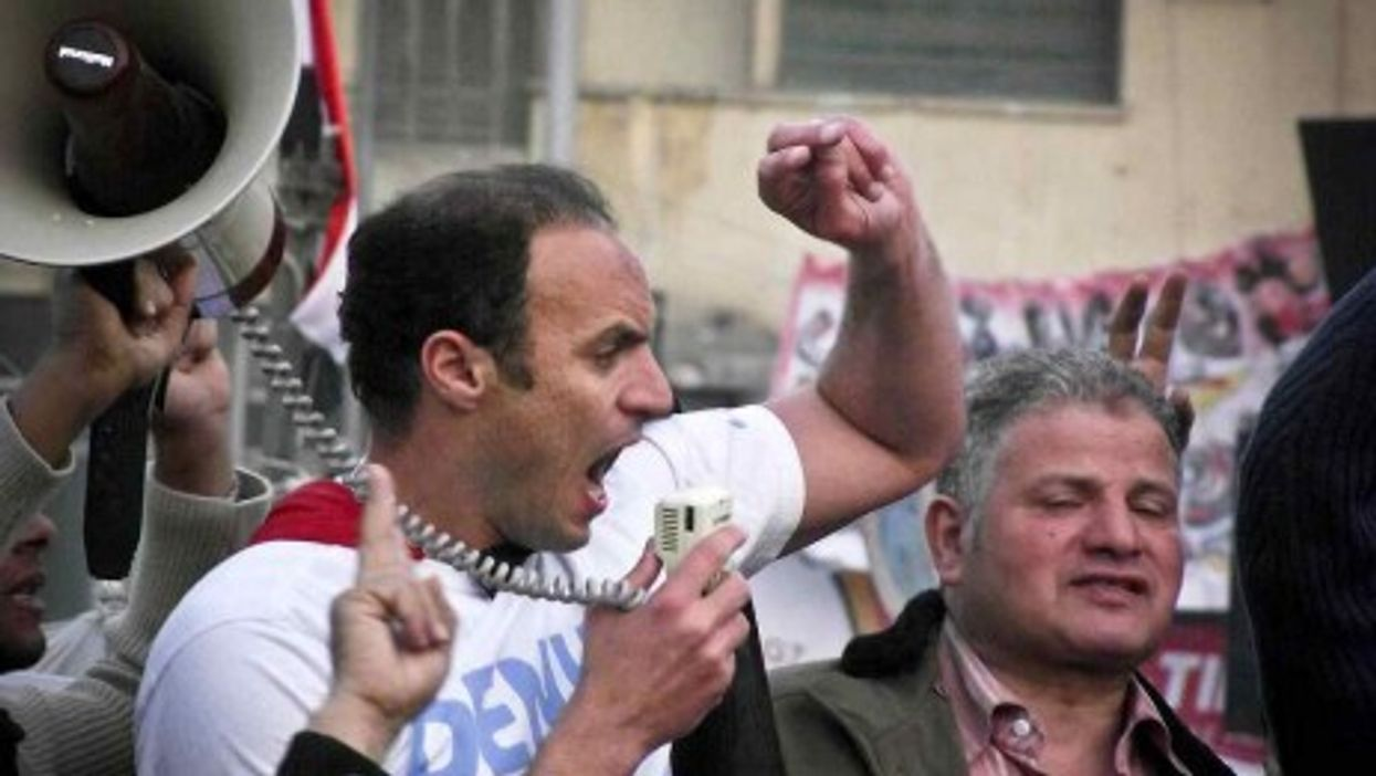 Protesters in Tahrir Square (Maged Helal)