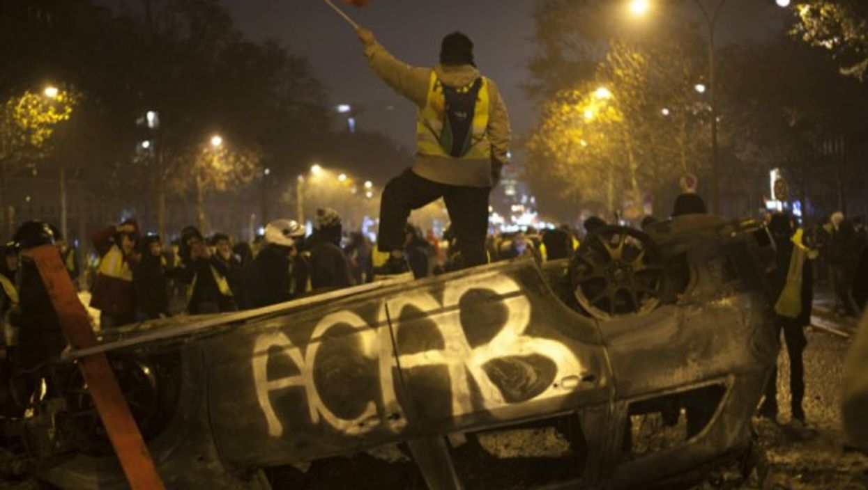 Protesters wreaked havoc in the French capital Saturday