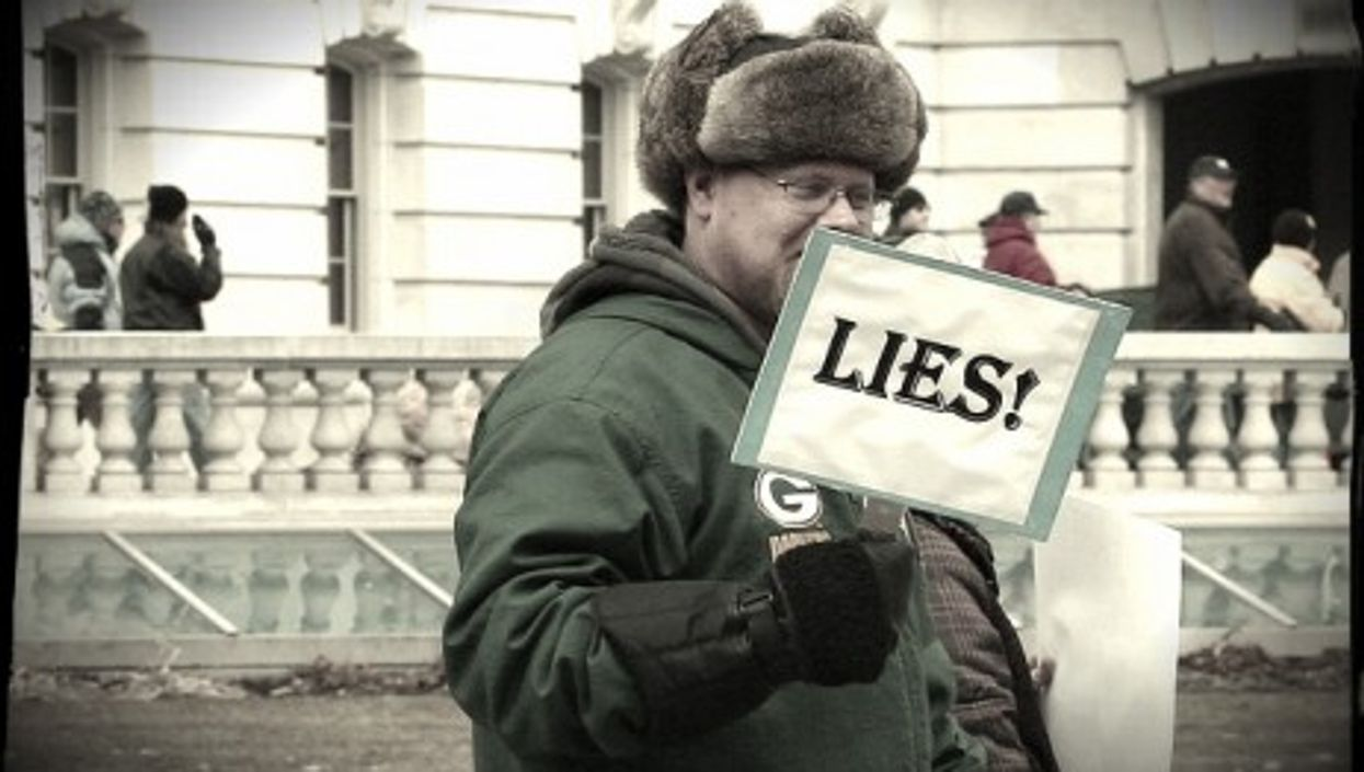Protesting the lies