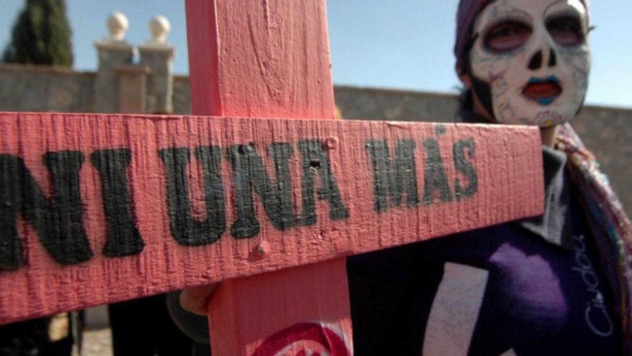 Protesting violence against women in Ciudiad Juarez
