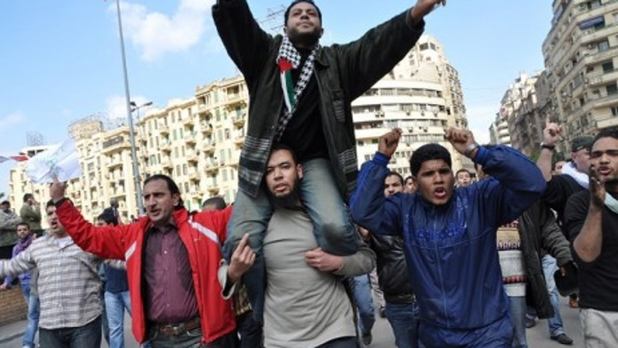 Protestors in Tahir, Egypt (Jan. 30, 2011)