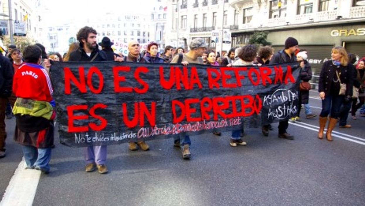 Protests against labor reforms in Madrid (gaelx)