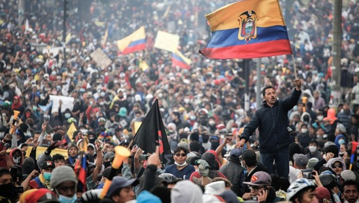 Protests earlier this month in Quito, Ecuador