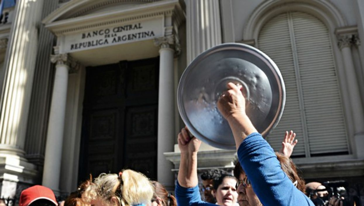 Protests held at Central Bank of Argentina