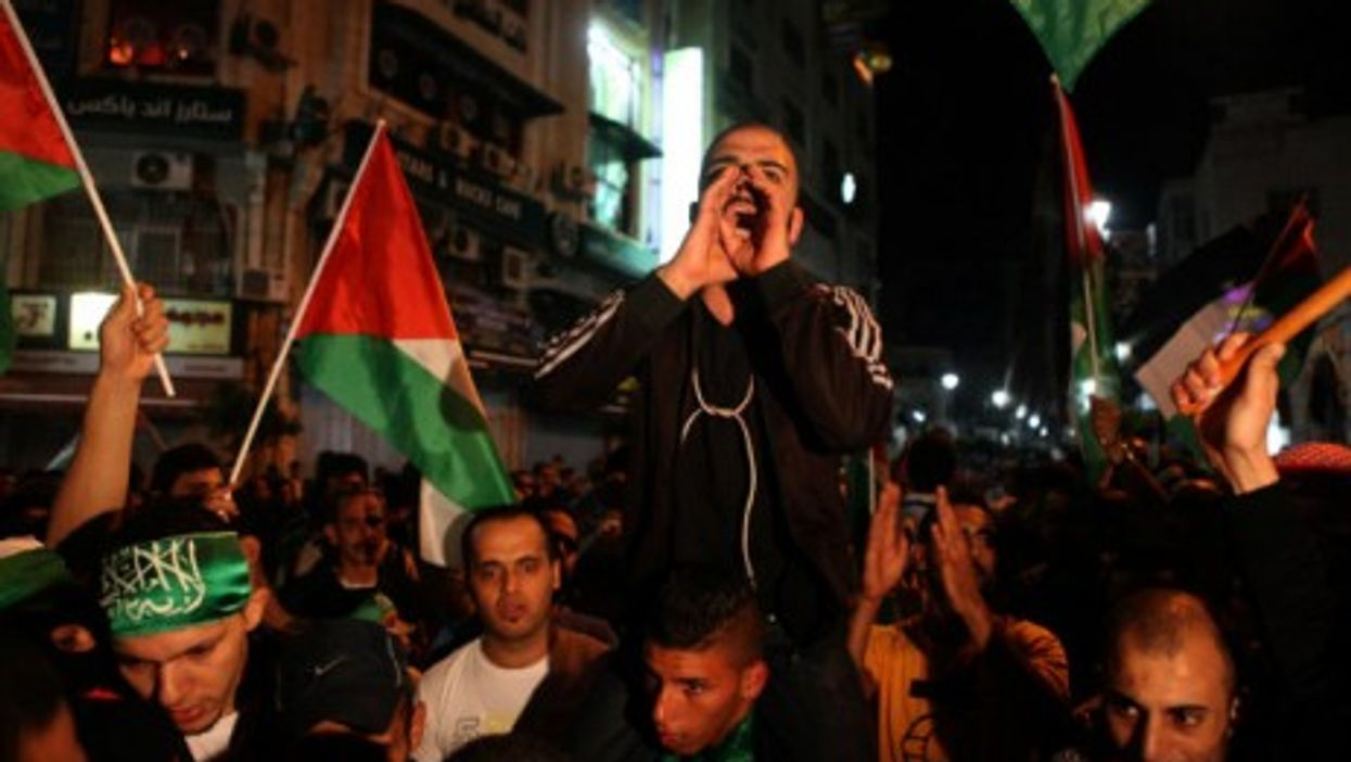 Protests in Ramallah this week.