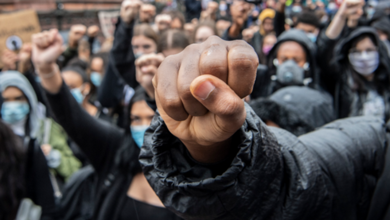 Protests in support of the Black Lives Matter movement, like here in Frankfurt, have sprung all over Europe