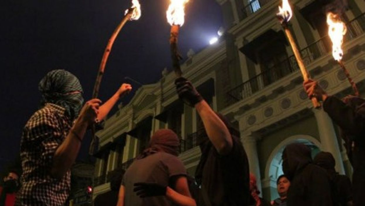 Protests in Xalapa as anger grows over the case of 43 missing students.