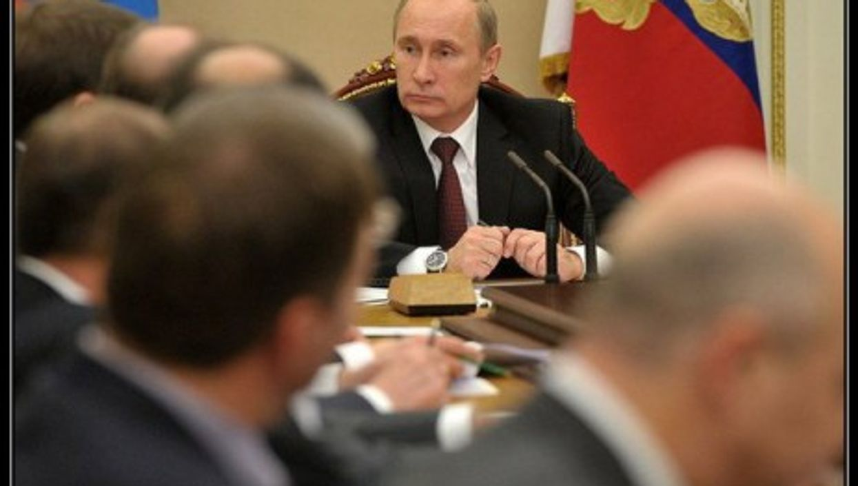 Putin and his Security Council advisors