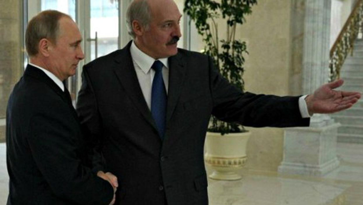 Putin and Lukashenko earlier this year.