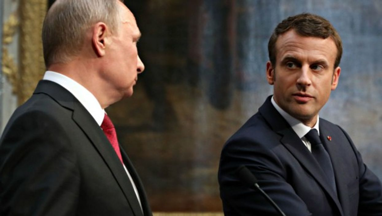 Putin and Macron in Versailles in May