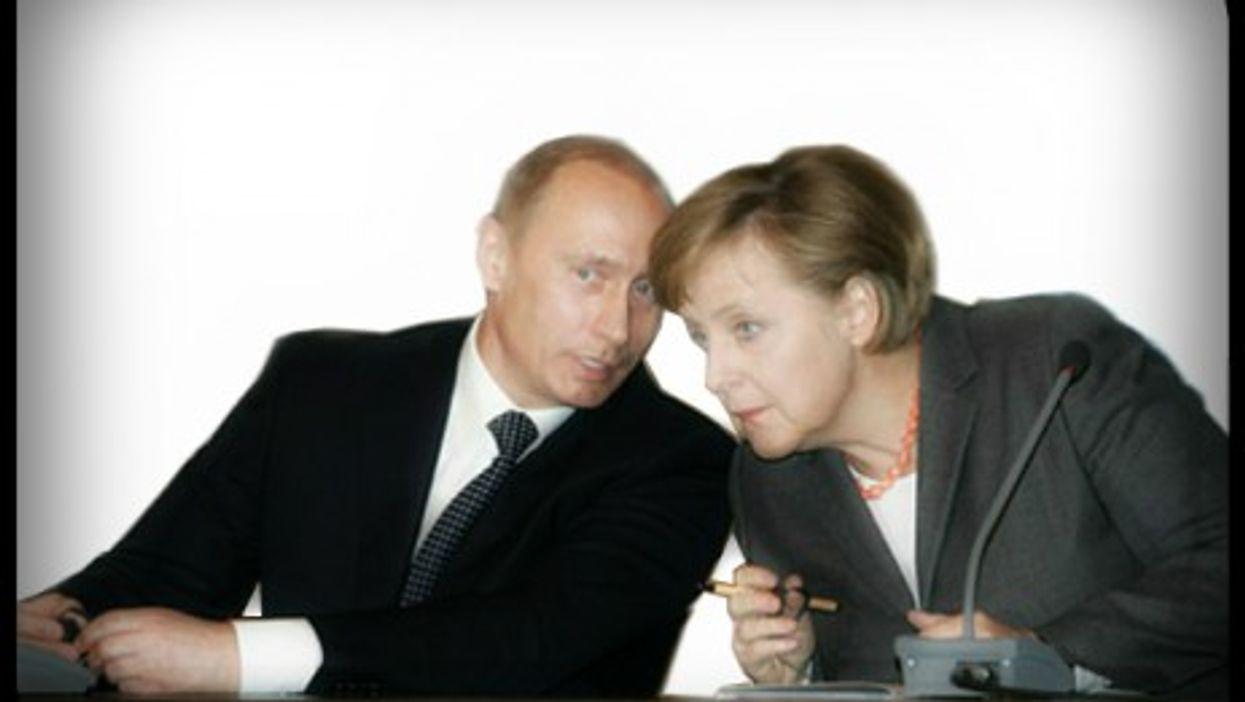 Putin and Merkel way back in 2006... Not so close anymore?