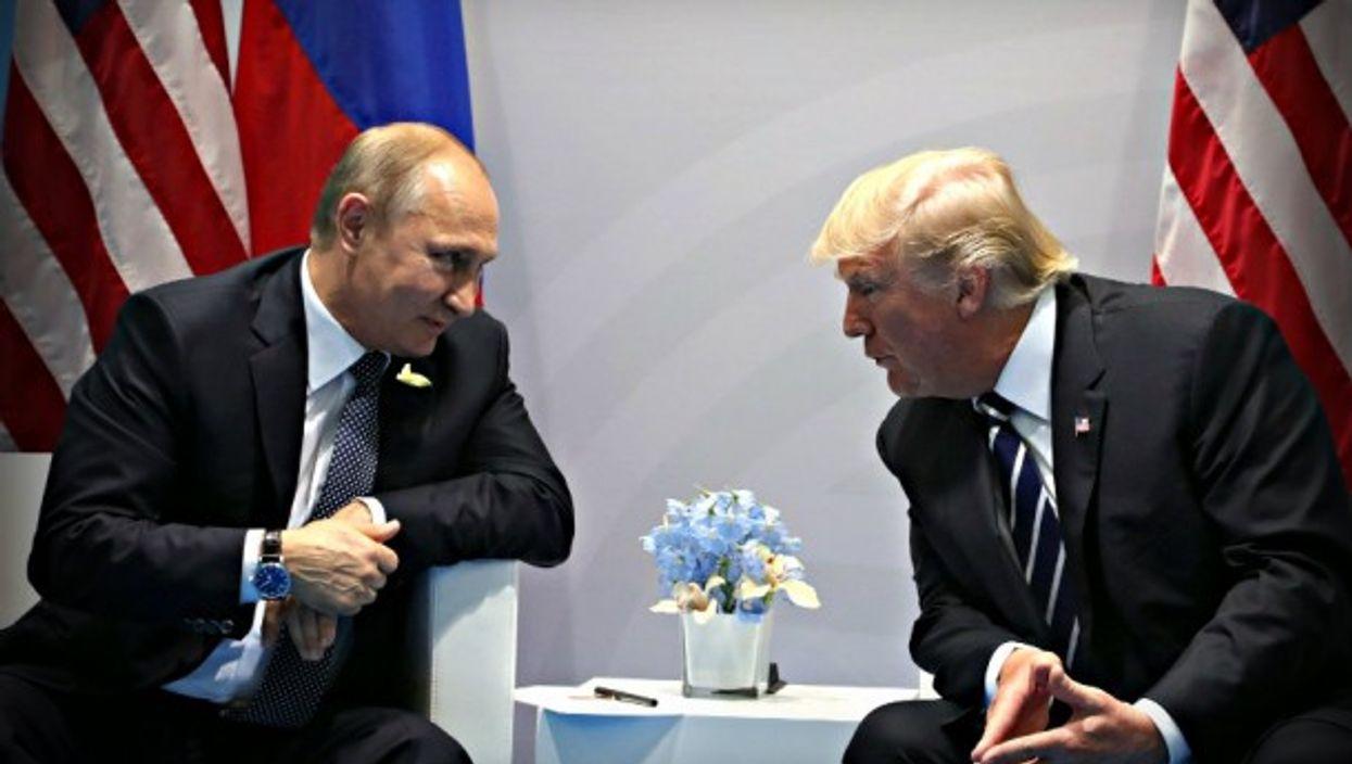 Putin and Trump meet in Hamburg