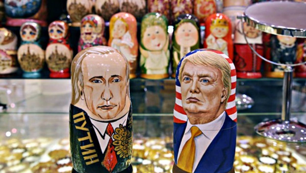 Putin and Trump nesting dolls