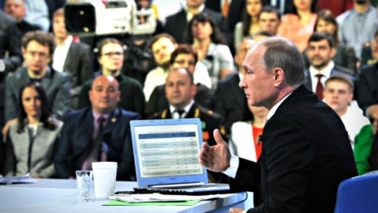 Putin in Moscow on April 16