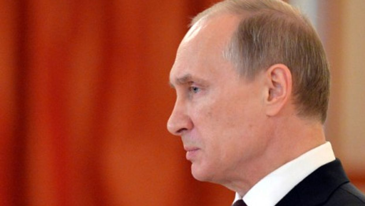 Putin in the Grand Kremlin Palace in Moscow, on June 27, 2014