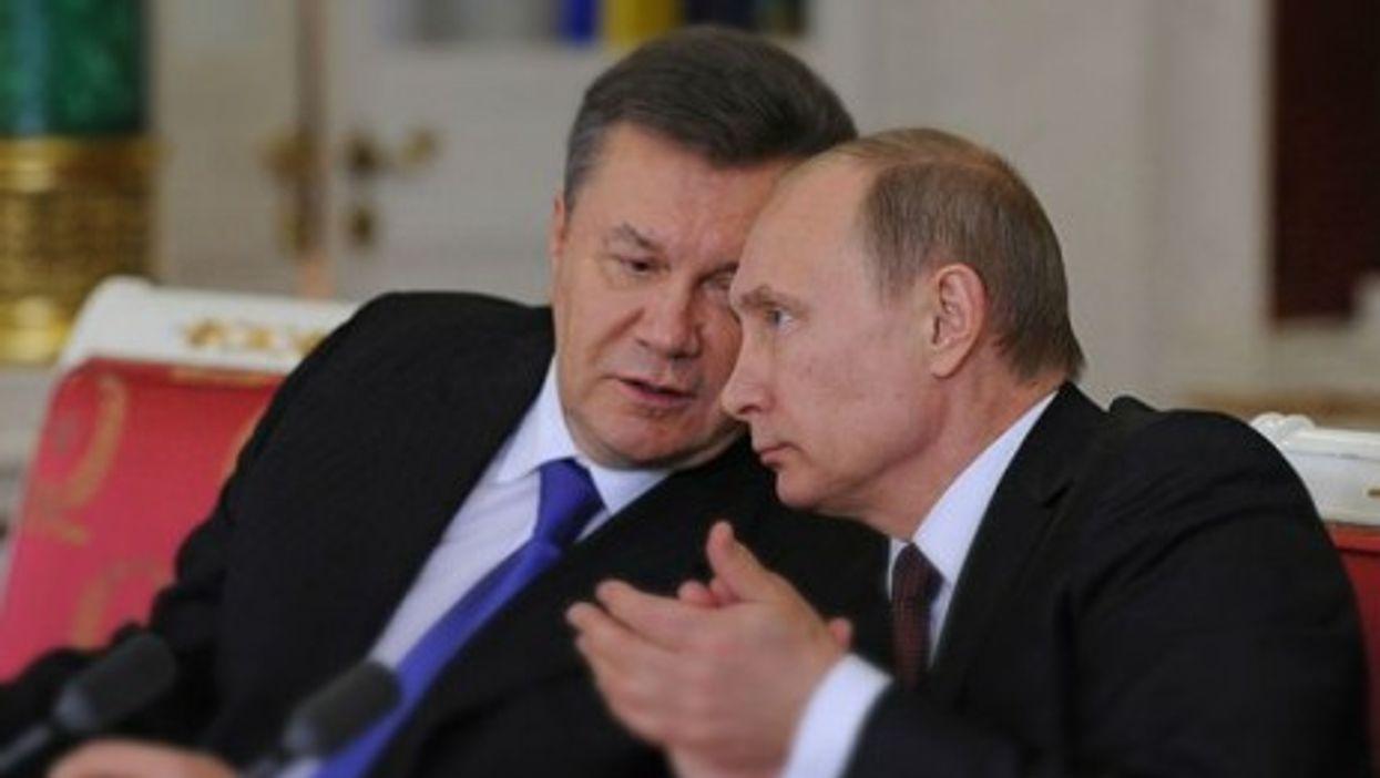 Putin with president of Ukraine Viktor Yanukovych