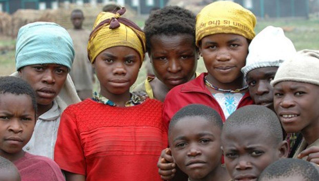Pygmy children in Shasha, North Kivu