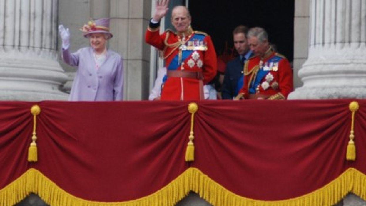 Queen Elizabeth II and Princes Philip, Charles, William (Rob Moment)