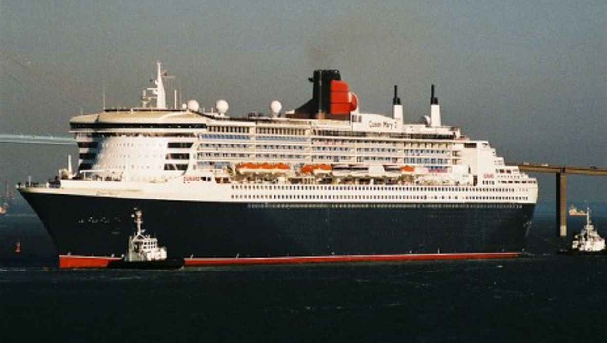 Queen Mary 2 near the port of Saint Nazaire