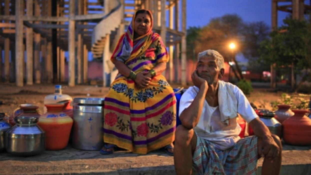 Queuing at a water tank in Latur, Maharashtra, on April 20