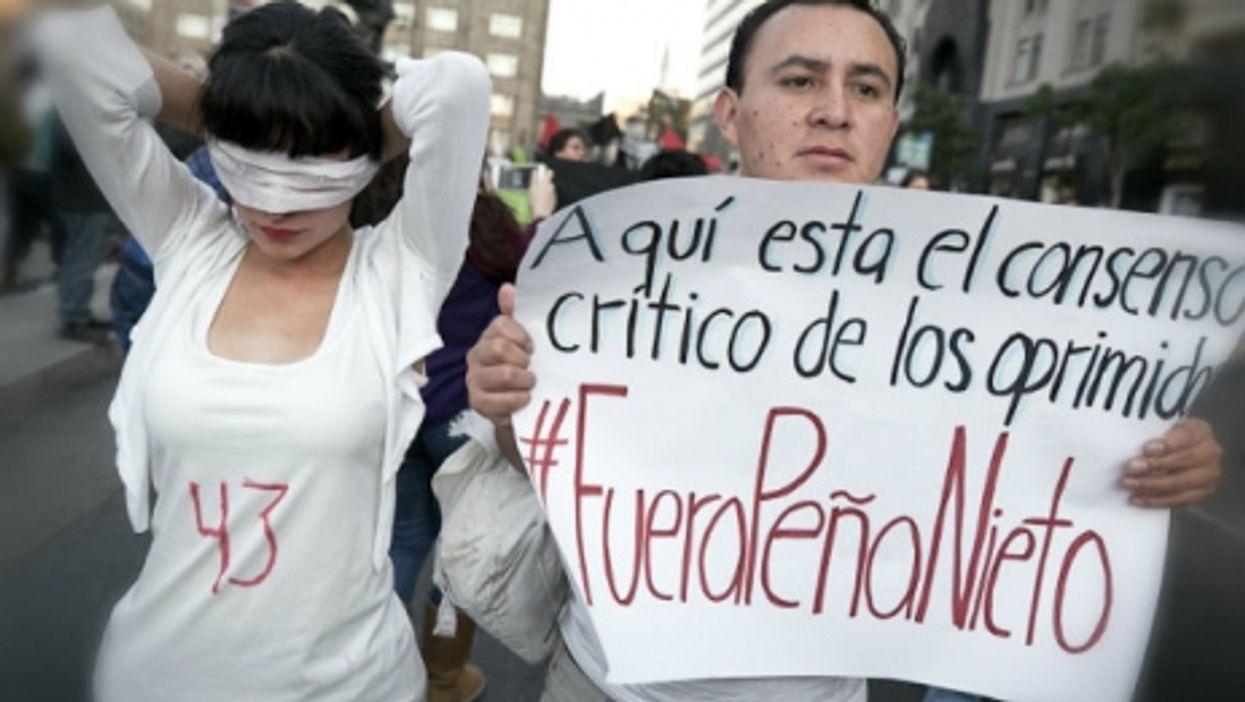 Rally against Pena Nieto in Mexico City