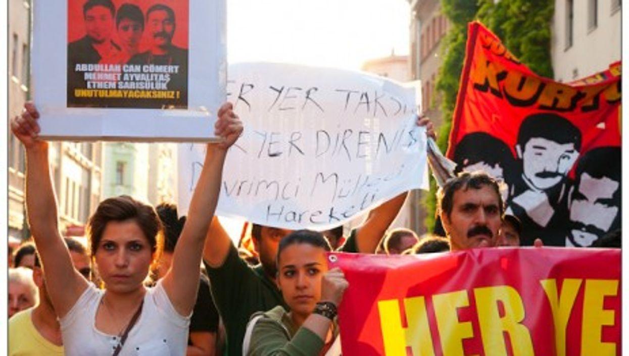Rally in solidarity with Taksim in Berlin's Kreuzberg neighborhood.