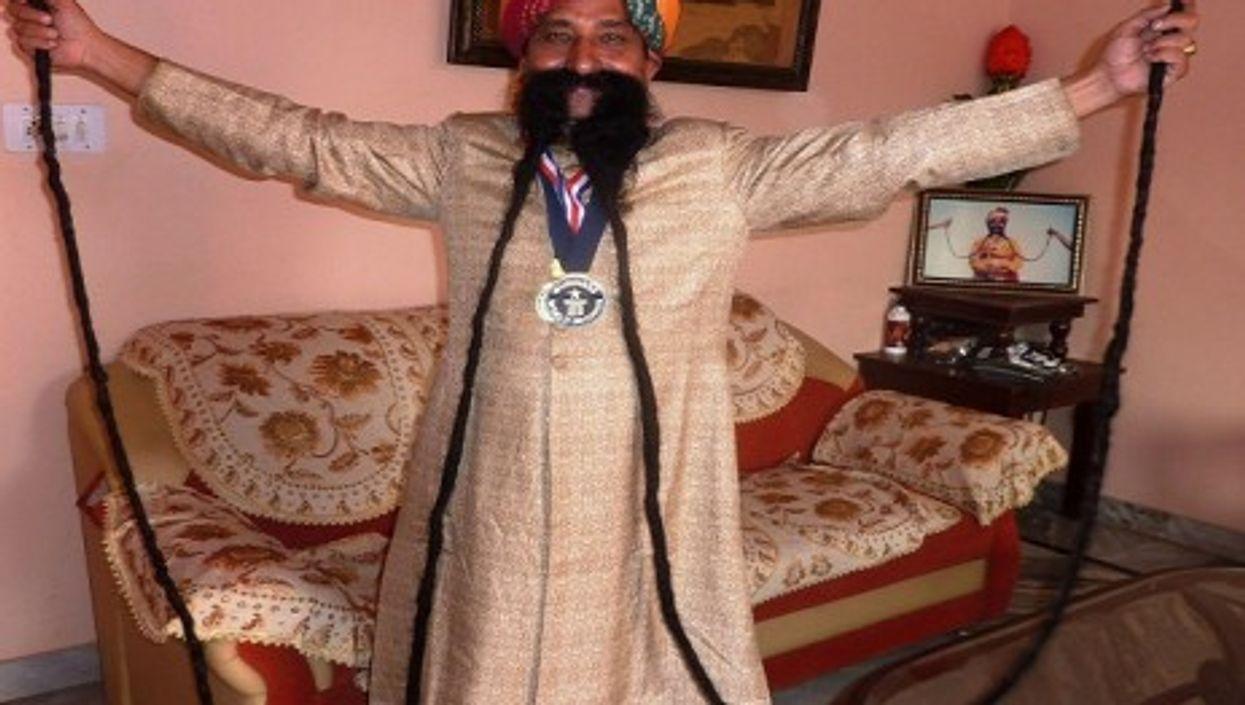 Ram Singh's Guinness World Record mustache