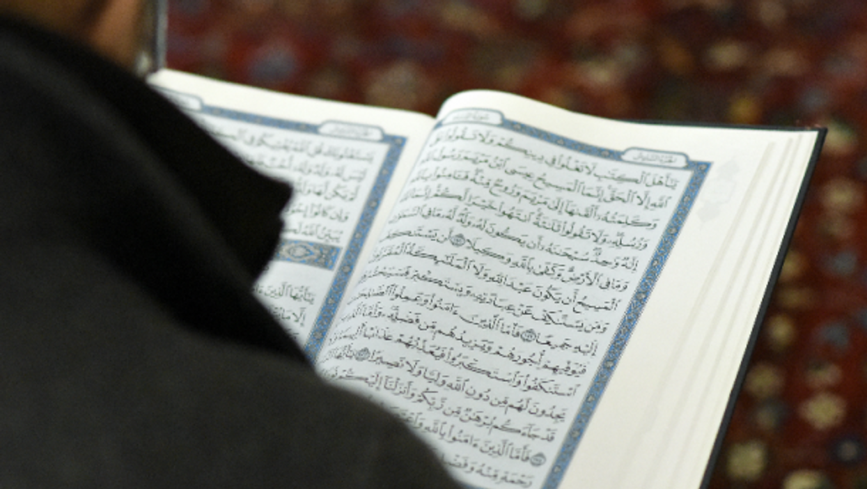 Reading at Vienna's Islamic Center