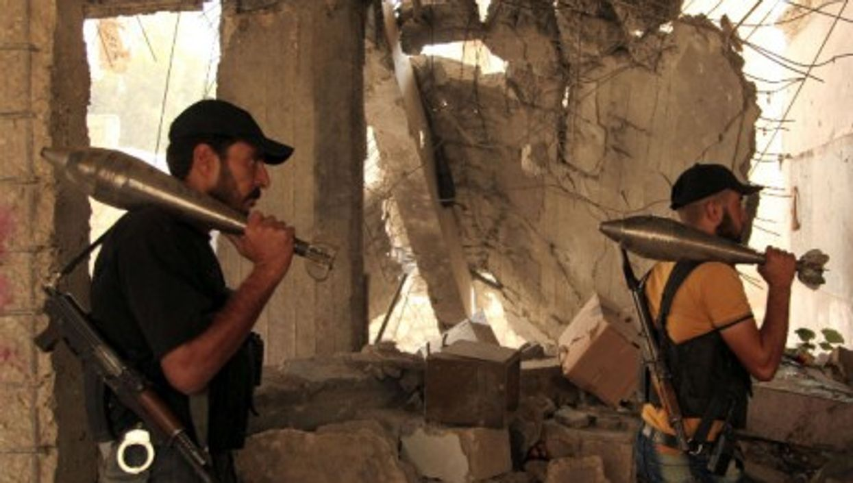 Rebel fighters in Aleppo on Sept. 14