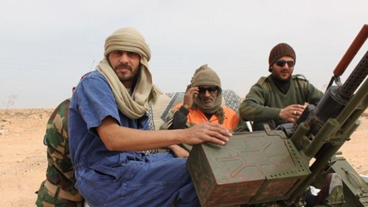 Rebel forces near Brega (Al Jazeera)
