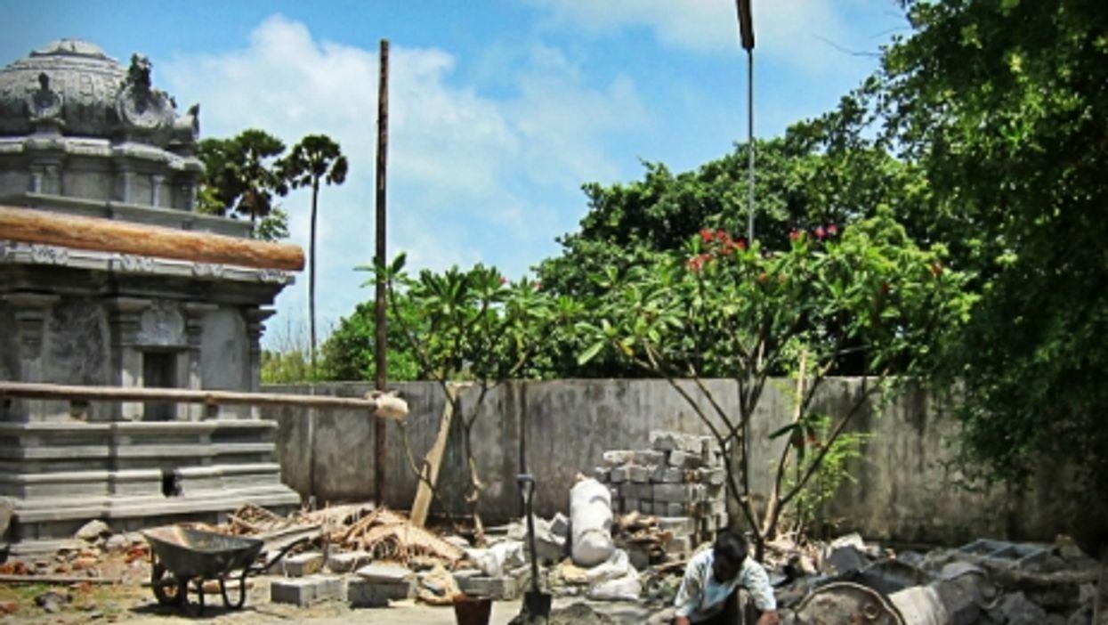 Rebuilding a temple in Jaffna