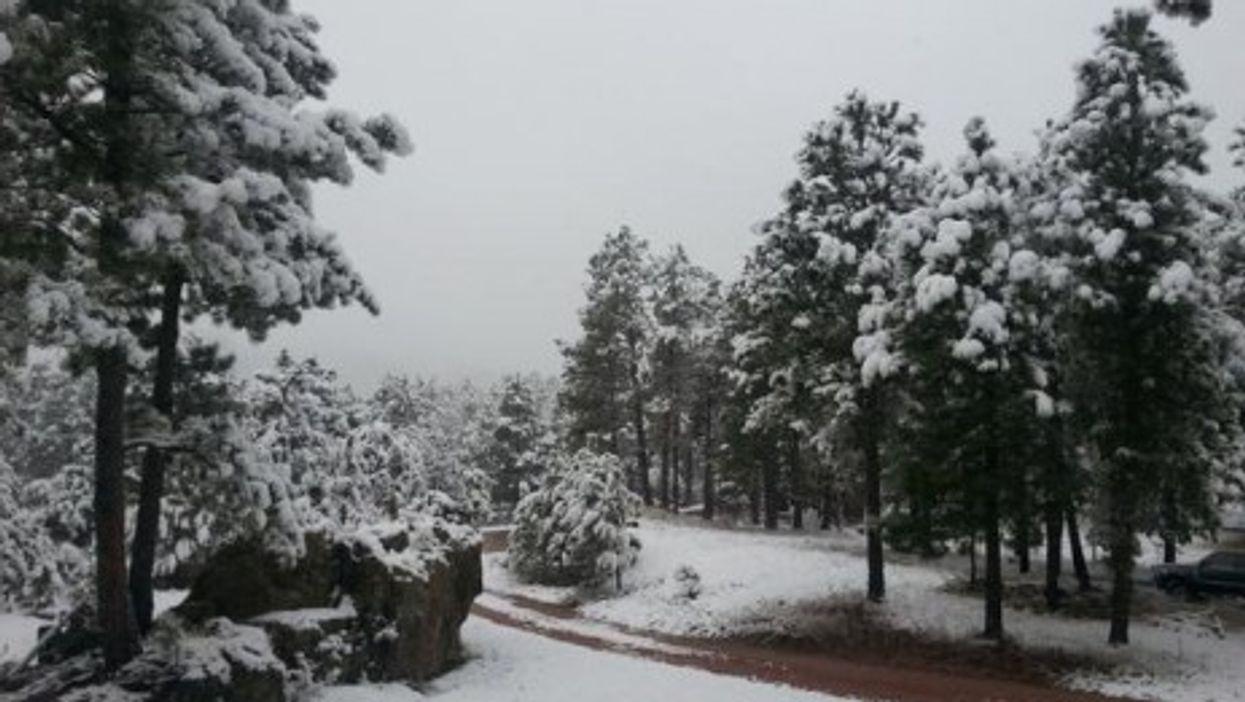 Record-breaking South Dakota snowfall