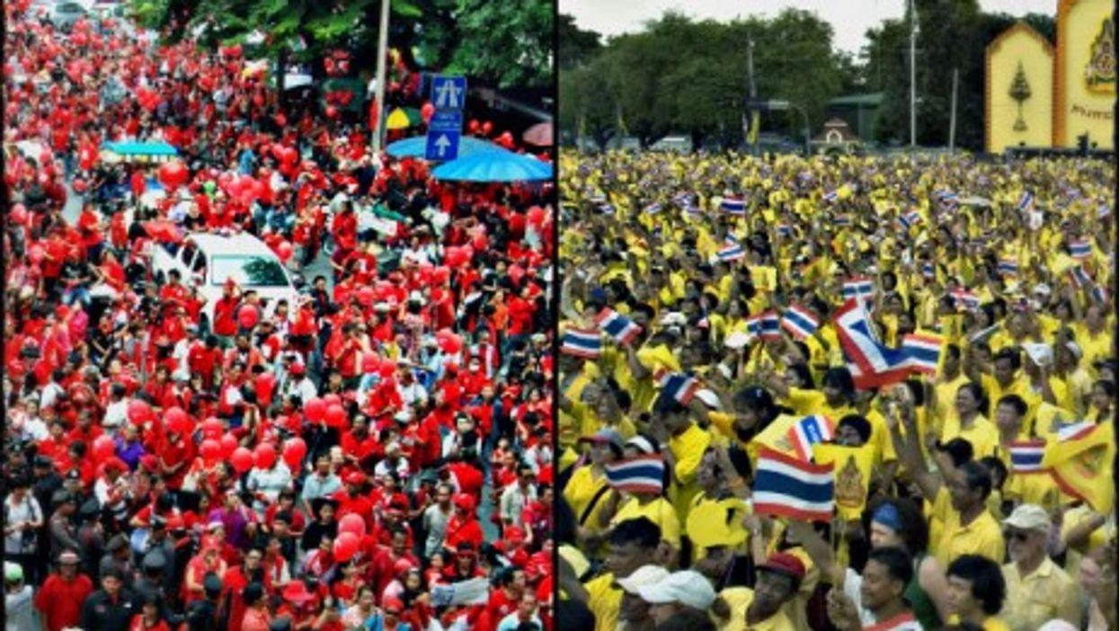 Red shirts vs. yellow shirts in Bangkok