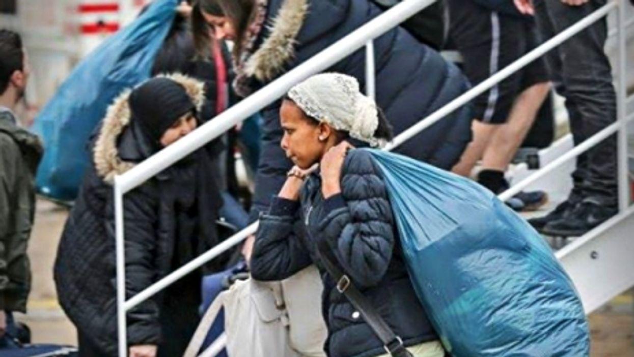 Refugee women in Hamburg