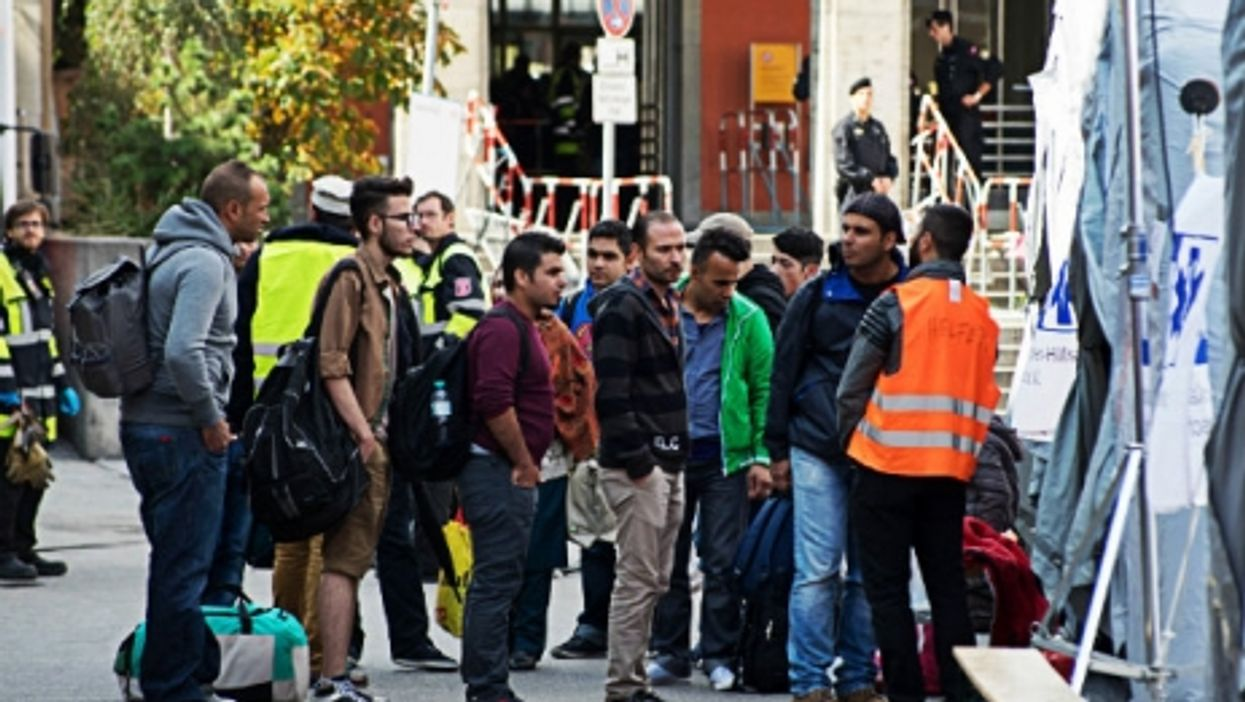 Refugees arriving last month in Munich.