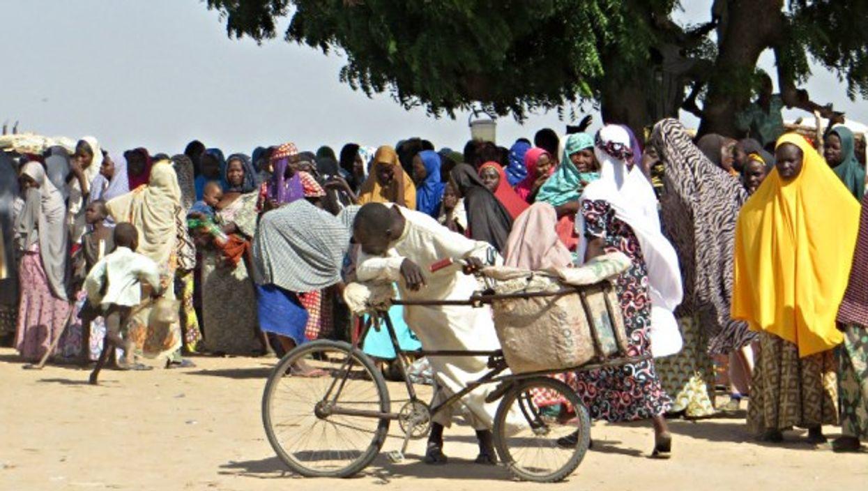 Refugees who fled Boko Haram in Maiduguri, Nigeria, last October