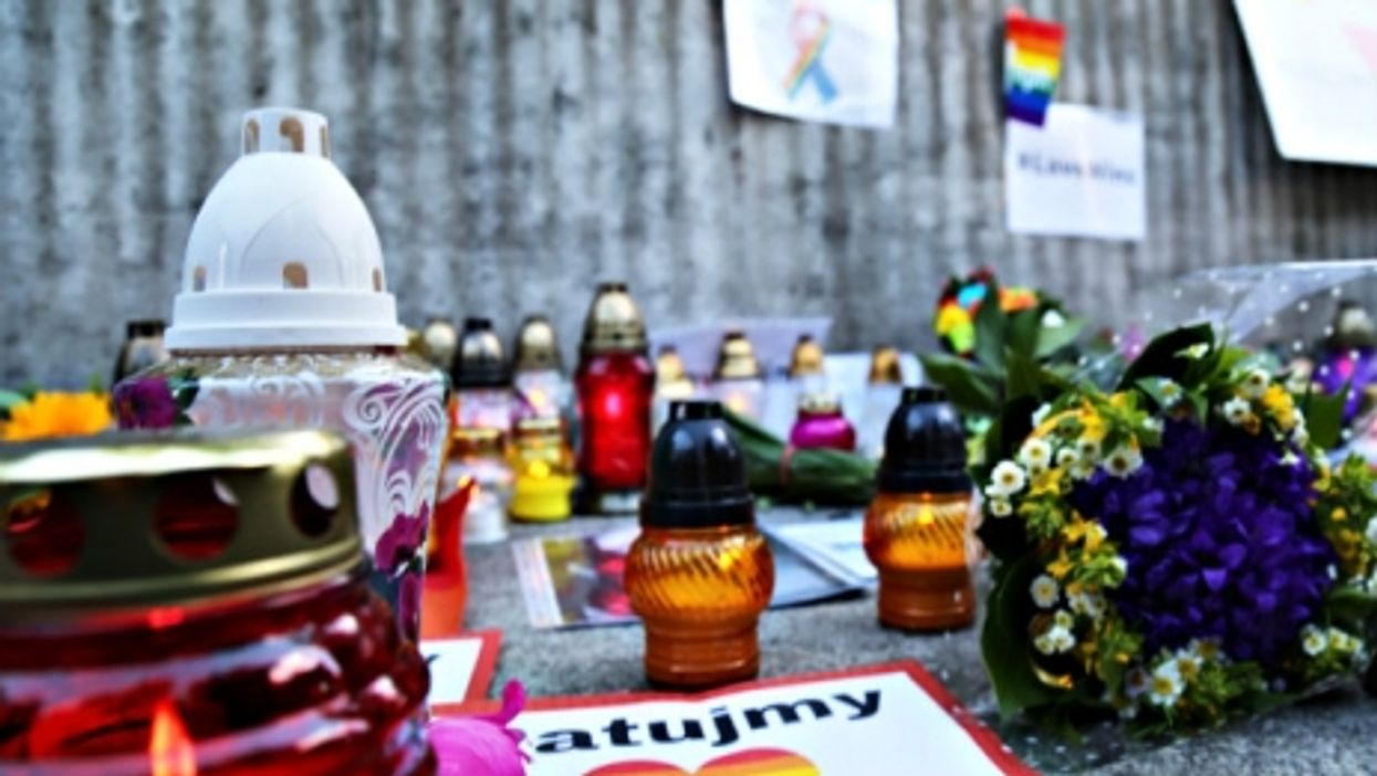 Remembering the Orlando victims in Warsaw, Poland.